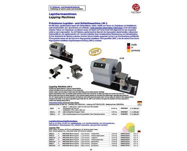 Lapidier- und Schleifmaschine